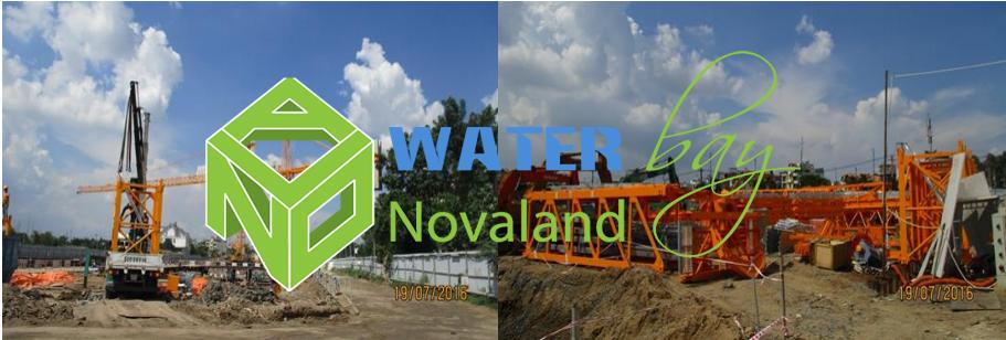Tiến độ thi công móng của dự án Water Bay Novaland