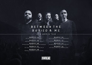 Concierto de BETWEEN THE BURIED & ME en Colombia