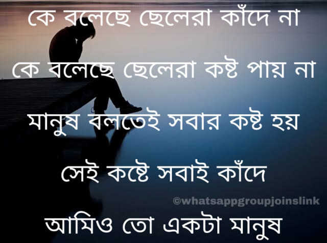 Bengali Sad Shayari Photo Download For GF & BF | Bangla Sad Shayari