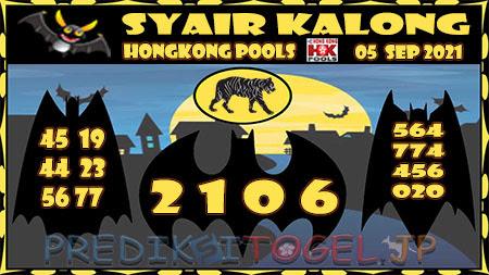 Syair Kalong HK Malam ini 05 September 2021