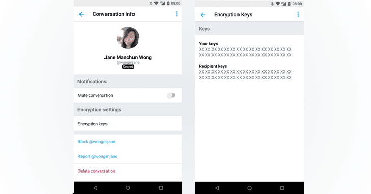Send Encrypted Twitter Direct Messages