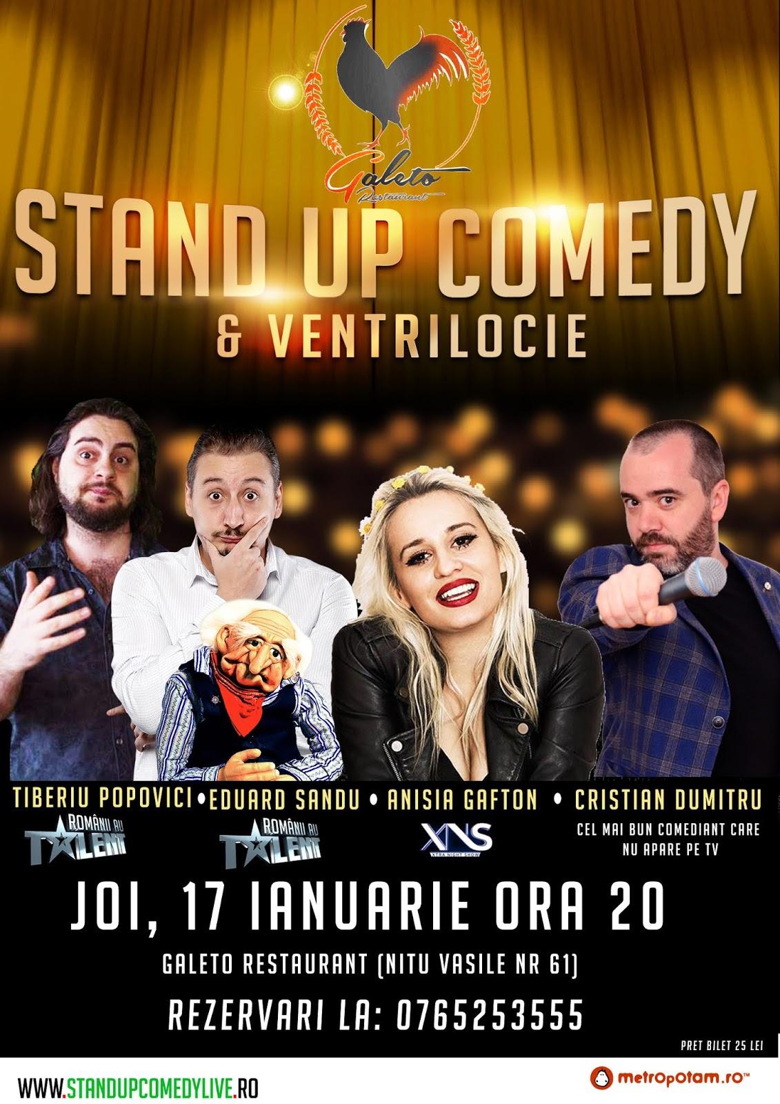 Stand-Up Comedy Bucuresti Joi 17 Ianuarie 2019