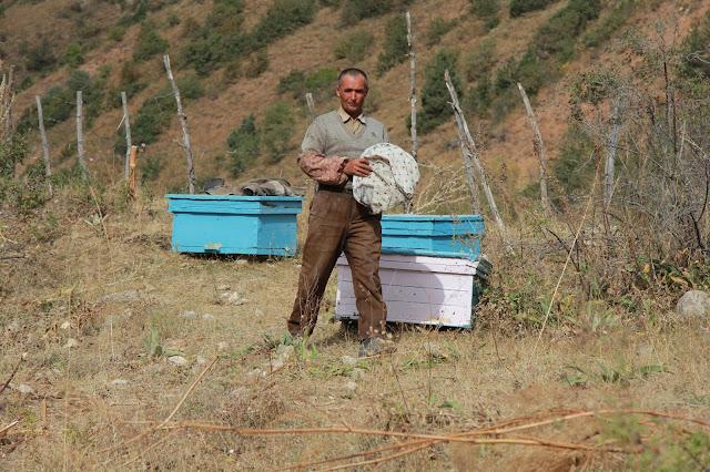Tadjikistan, Haut-Badakhshan, Pamir, Tavildara, apiculteur, © L. Gigout, 2012