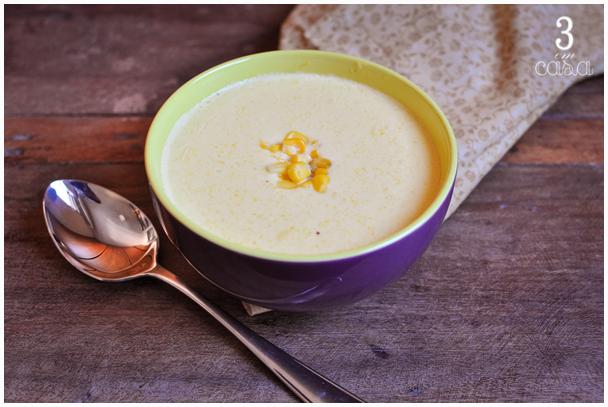 sopa de milho mexicana