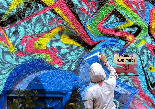 Street Art Collaboration by Stinkfish and Zas on the streets of Bogota, Colombia. 1