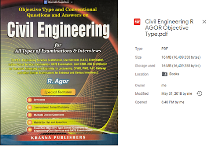 [PDF] Civil Engineering Objective Type by R. Agor ▽ free Download ▽