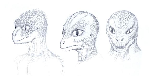 Representación de seres reptilianos
