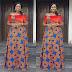 Ankara and Velvet Combination Styles ; Lovely Long Gowns