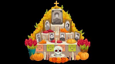 imagen de altar de muertos en png