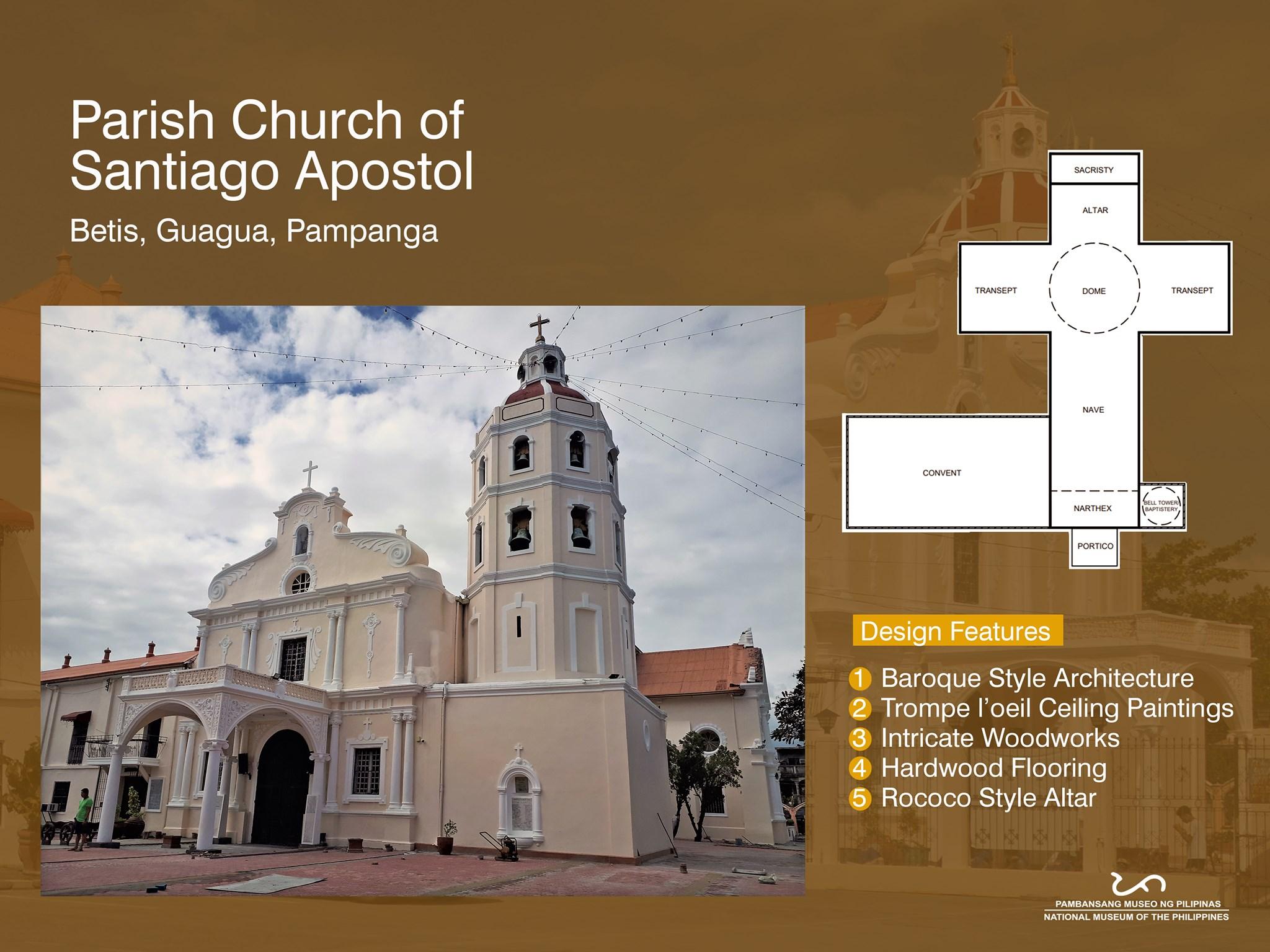 Parish Church of Santiago Apostol also known as Betis Church in Guagua, Pampanga