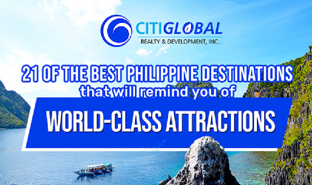 21 of the Best Philippine Destinations that Will Remind You of World-Class Attractions #infographic