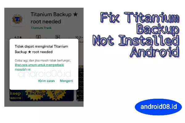 titanium backup not installed