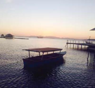 sunset indah di pulau piru