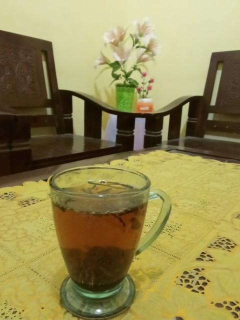 Teh cap berko sangat nikmat dibuat minuman teh tubruk