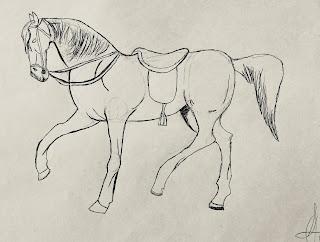 Cuento: De la siesta a la guerra, dibujo Rubén,