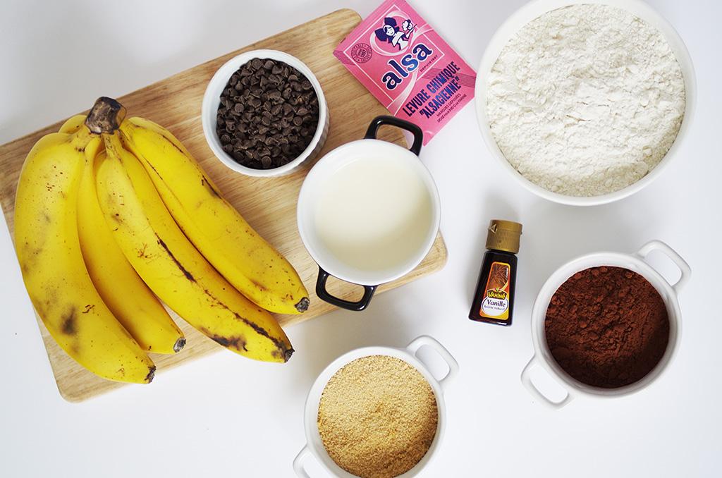 Elizabeth l Chocolate banana bread recipe l vegetarian food recette cake à la banane et au chocolat l THEDEETSONE l http://thedeetsone.blogspot.fr