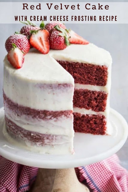 Red Velvet Cake with Cream Cheese Frosting Recipe #Red Velvet #Cake with #Cream #Cheese #Frosting #Recipe Cake Recipes From Scratch, Cake Recipes Easy, Cake Recipes Pound, Cake Recipes Funfetti, Cake Recipes Vanilla, Cake Recipes Bundt, Cake Recipes Homemade, Cake Recipes Chocolate,