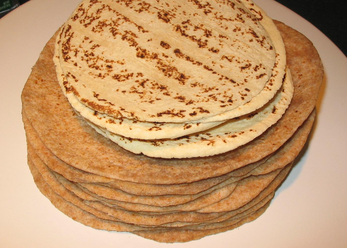 Corn Or Wheat Tortilla Mexican Food