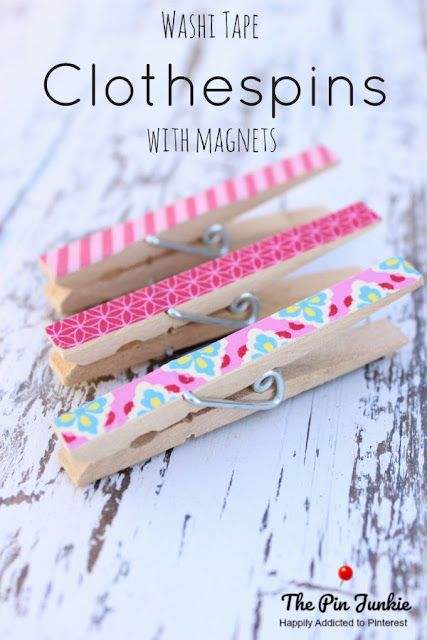Washi Tape Clothespins. Add pretty designs to clothespins in minutes.