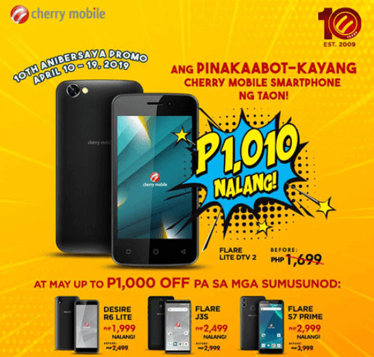 Cherry Mobile announces 10th Anibersaya Bigaten Promo