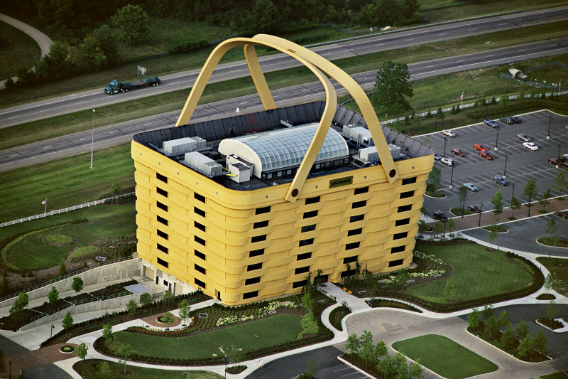 This 7 story Longaberger Basket Building is located in Longaberger Town,  Newark, Ohio, United states. It is the corporate headquarters of the  Longaberger ...