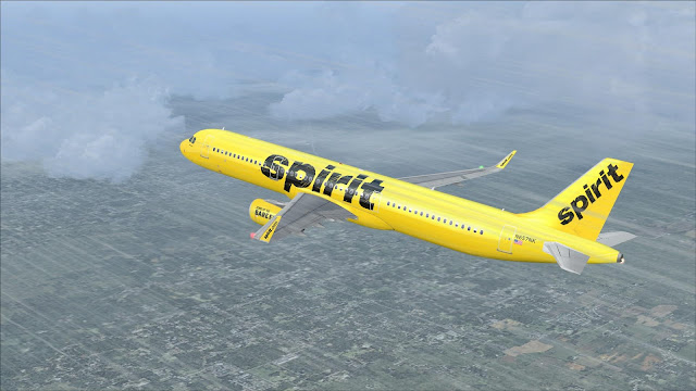 FS2004 REPAINTS: PROJECT AIRBUS A321-200SL Spirit Airlines N657NK