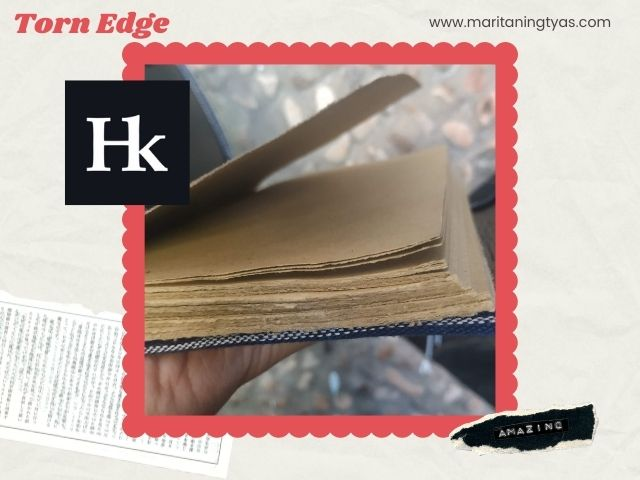 jurnal with torn edge