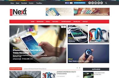 Technext Magazine Blogger Template premium