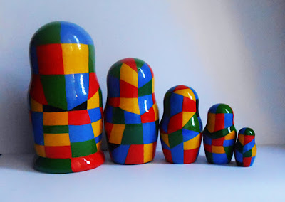 Nesting dolls Malevich handmade