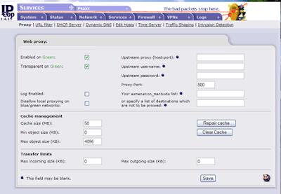 3. Fungsi dan fitur addons Layer7 Filter pada IPCop