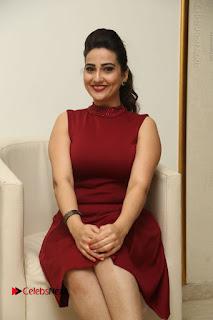 Telugu Tollywood Anchor Manjusha Pos in Red Short Dress  0069.JPG