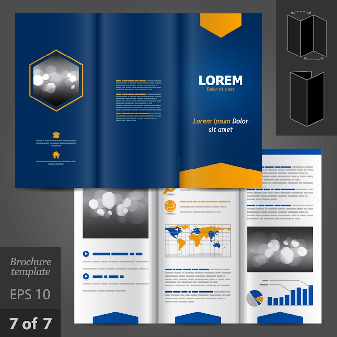 Creative business brochure and booklet design vector Free vector