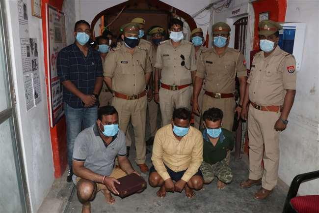 वाराणसी के विरदोपुर में भौकाल बनाने के लिए दवा व्यवसायी को मारी गोली, 3 आरोपियों को किया गिरफ्तार