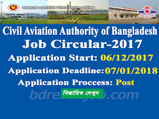 Civil Aviation Authority of Bangladesh (CAAB) Job Circular 2017