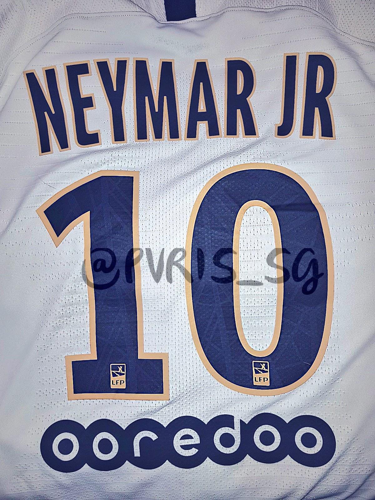 8cd64e2f4cb Update: Special Nike Paris Saint-Germain 18-19 Away Kit Font Revealed