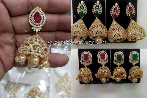 Diamond Style Imitation Jhumkas Sets