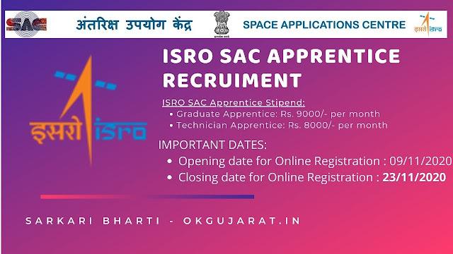 ISRO SAC Apprentice Recruitment