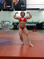Female Bodybuilding Big Muscles Posing