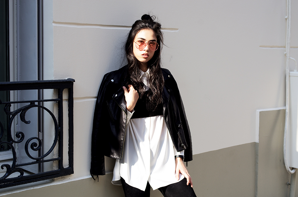 Elizabeth l La vie en rose outfit blog mode l Asos Zara H&M Valentino Rockstuds l THEDEETSONE l http://thedeetsone.blogspot.fr