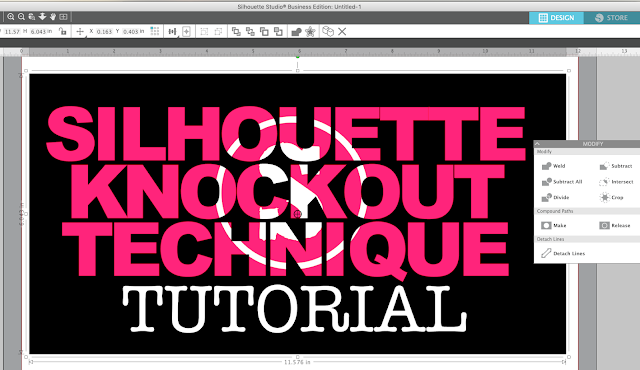 silhouette america blog, silhouette 101, knockout, knockout technique, knockout design