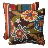 Pillow Perfect Indoor/Outdoor Annie Westport Reversible Corded Throw Pillow