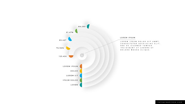 rounded block arc infographics for powerpoint