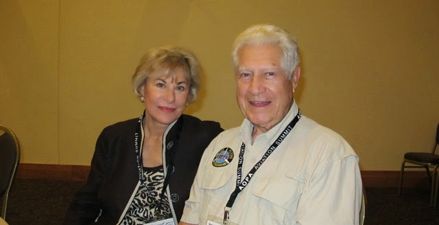 UFO researcher Don Newman with his wife. Newman was a B-17 pilot and instructor in the U.S. Army Air Corps
