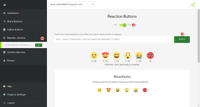 Add-feedback-to-the-Blogger-blog-under-each-topic-such-as-Facebook-Emoji