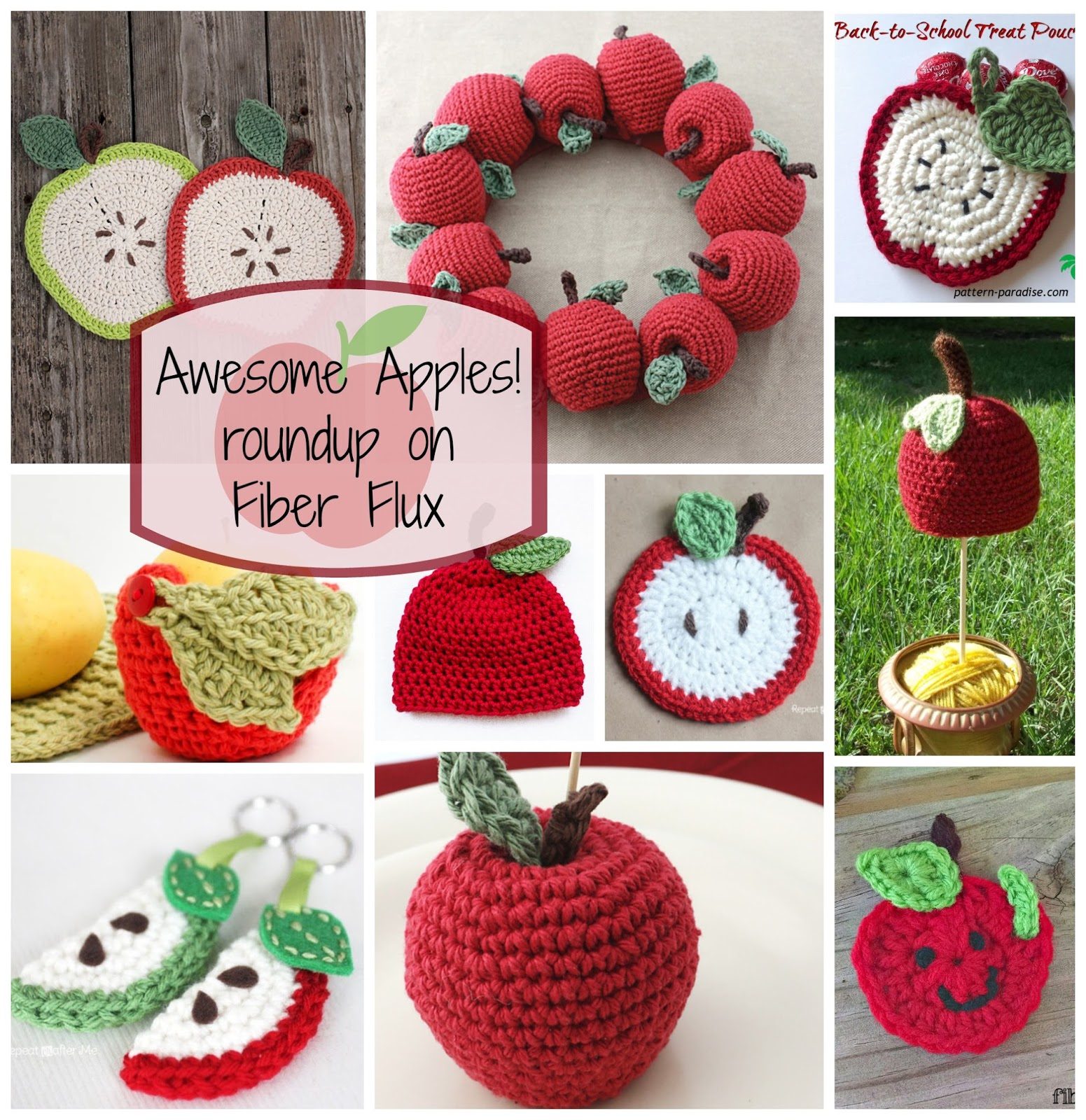 Fiber Flux Awesome Apples 10 Free Crochet Patterns