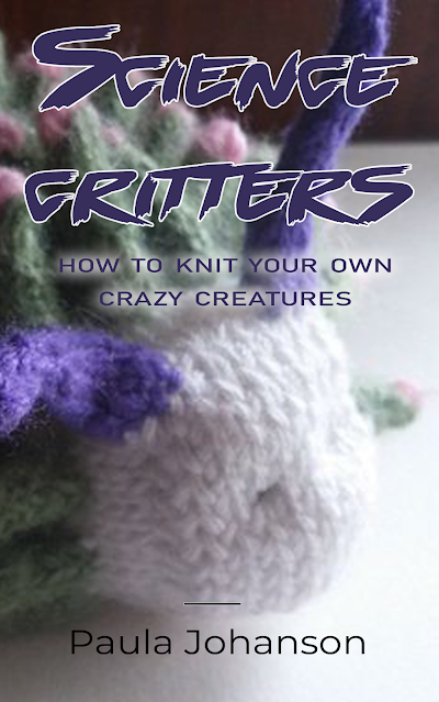 cover image of Science Critters book showing a knitted seaslug