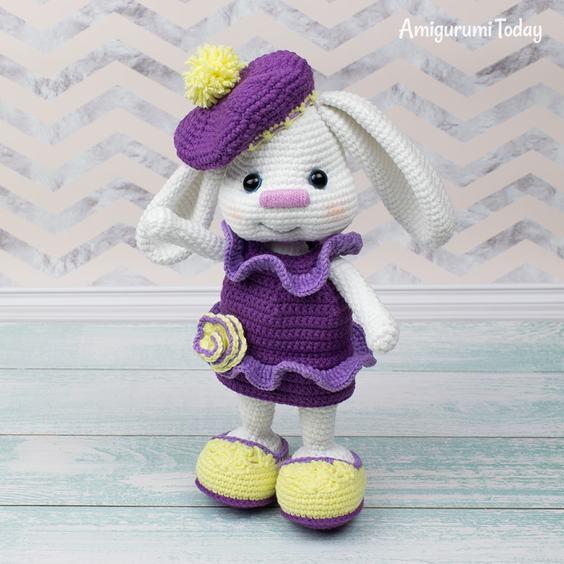 63 Free Crochet Bunny Amigurumi Patterns ⋆ DIY Crafts | 564x564