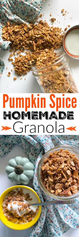 Pumpkin Spice Homemade Granola