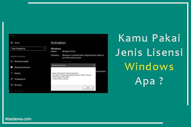 jenis lisensi di windows