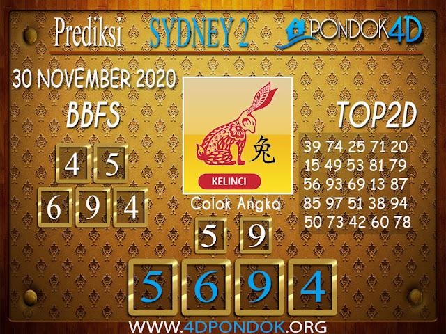 Prediksi Togel SYDNEY2 PONDOK4D 01 DESEMBER 2020
